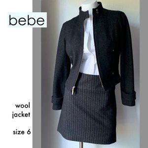 Bebe wool, lined two-way zip jacket